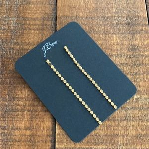 J. Crew Burnished Gold Le Point Chain Earrings.